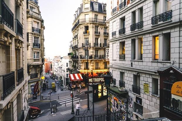 A street in Montmartre, Paris
