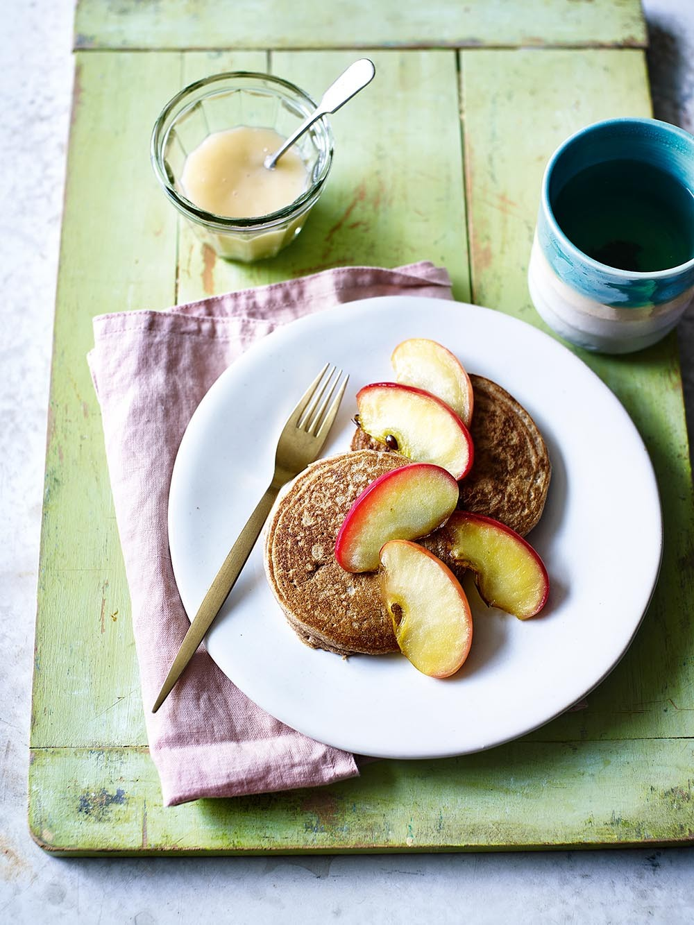 Caramel apple pancakes recipe