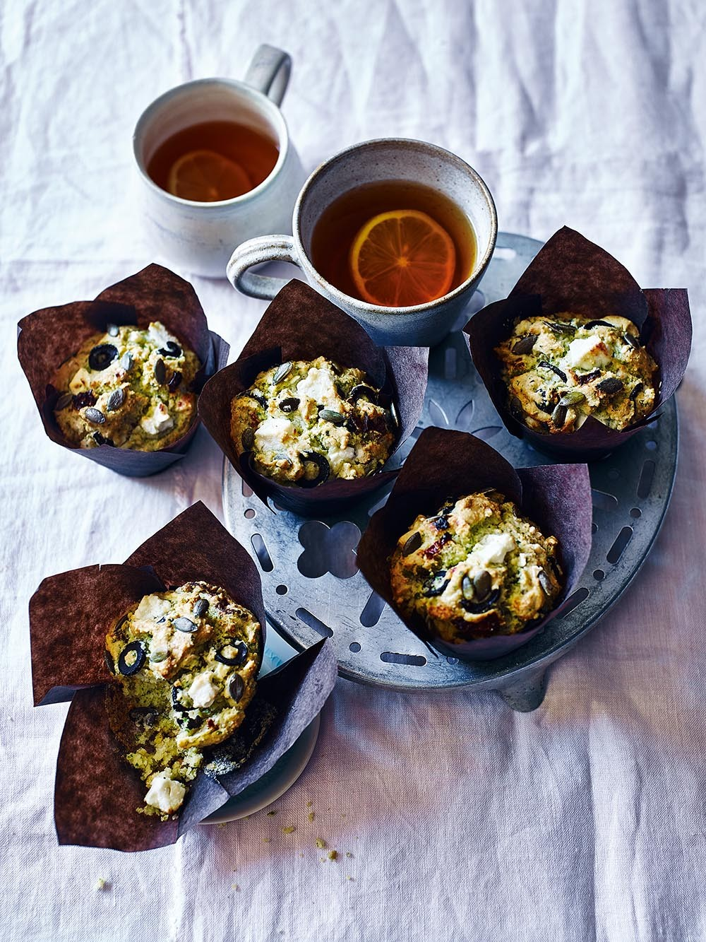 Feta, Olive and Herb muffins recipe
