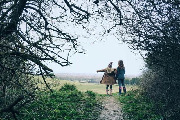 Women walking in the countryside