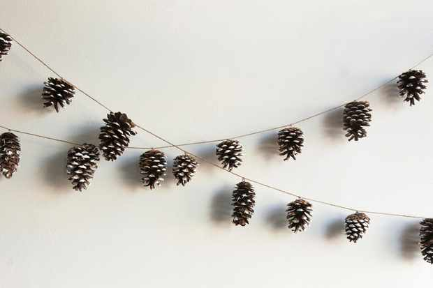 Paint-dipped pine cones