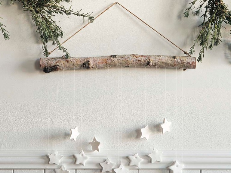 Make your own tiny clay star wall hanging for Christmas