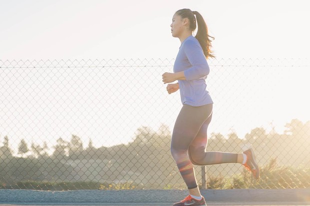 A woman training for a marathon