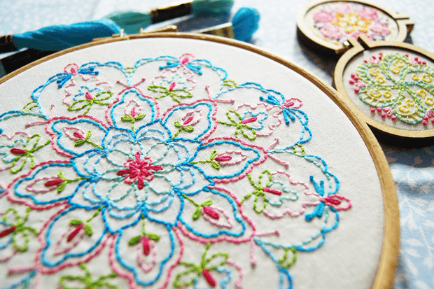 Try mindful embroidery with this free winter solstice ...