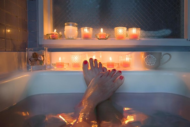 Relaxing in the bath