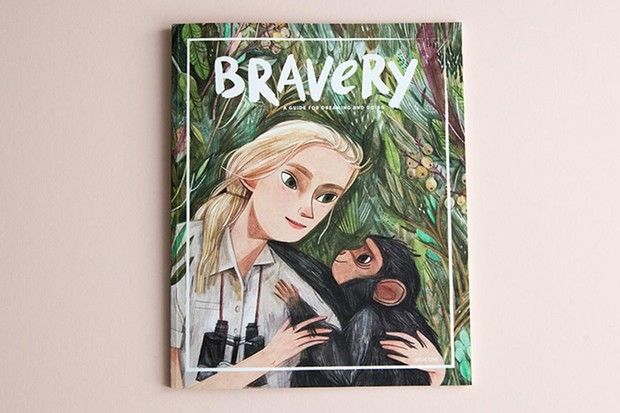 Bravery Magazine cover Jane Goodall