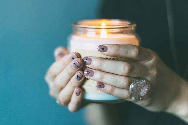 Cosy candles for hygge
