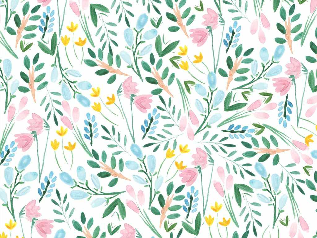 Download Free Illustrated Floral Wallpaper For Your Phone