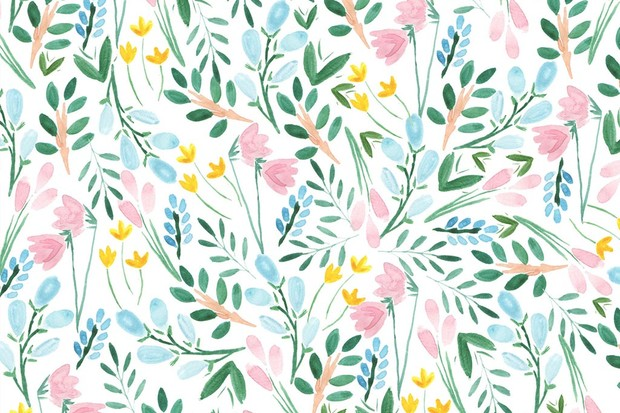download free illustrated floral wallpaper for your phone computer
