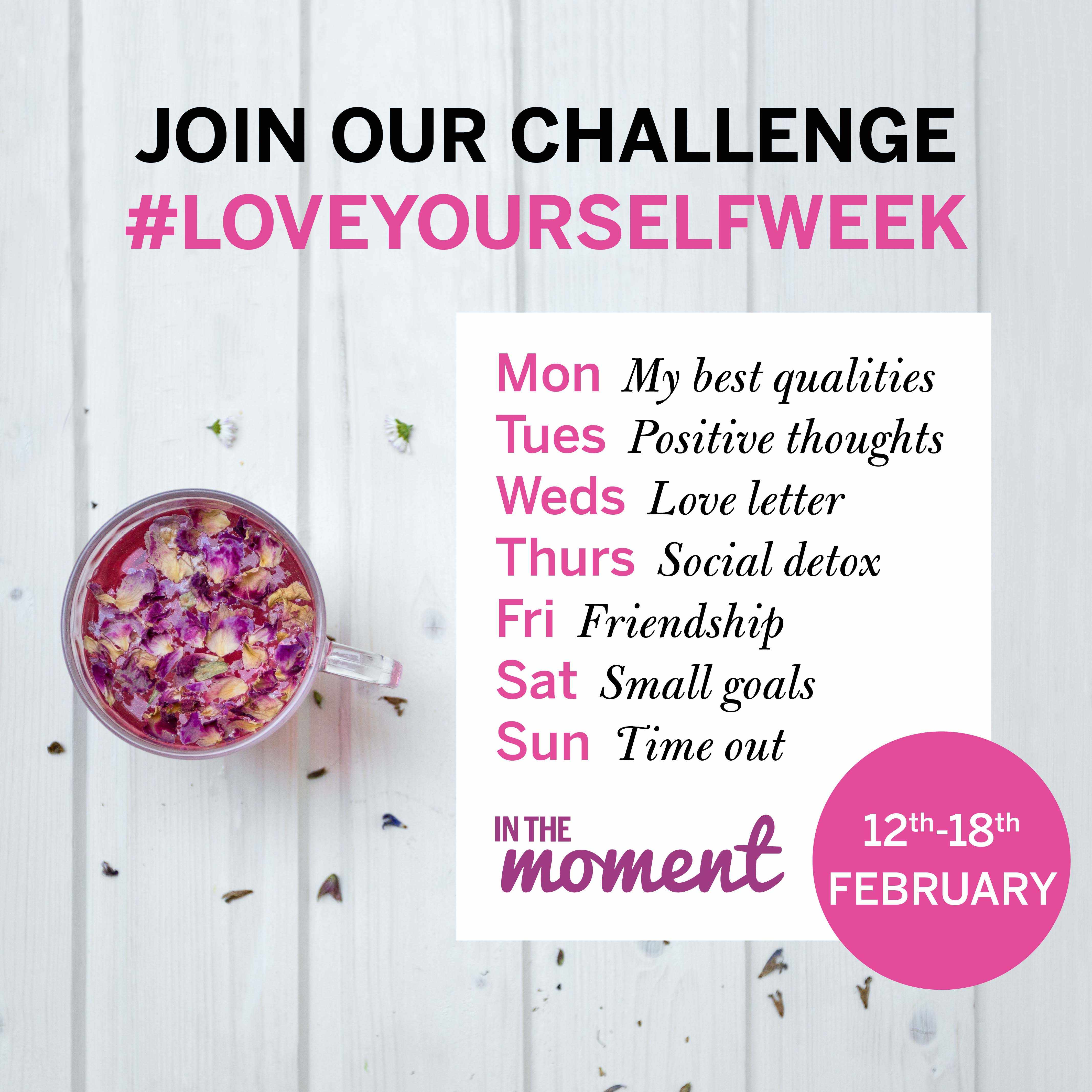 Love yourself week graphic