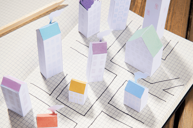 Project Calm paper houses