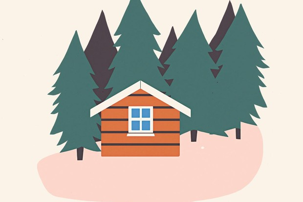 Sisu cabin illustration