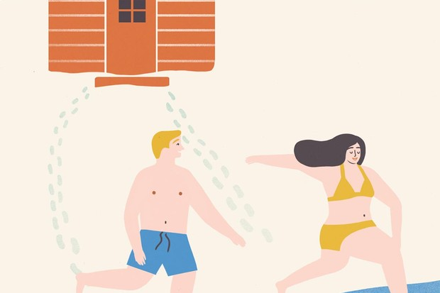 Sisu sauna illustration