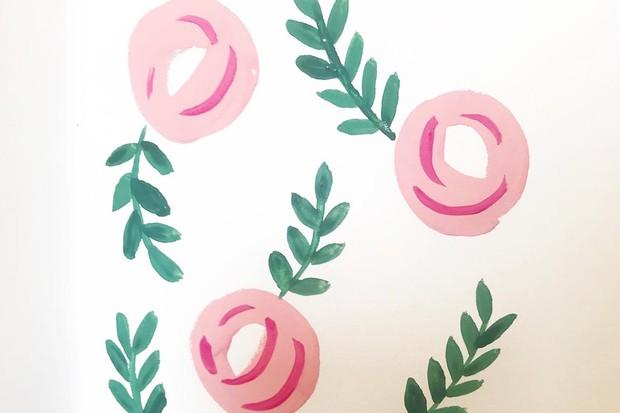 Gouache flowers step 3