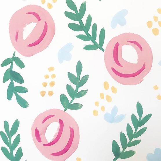 Gouache flowers step 5