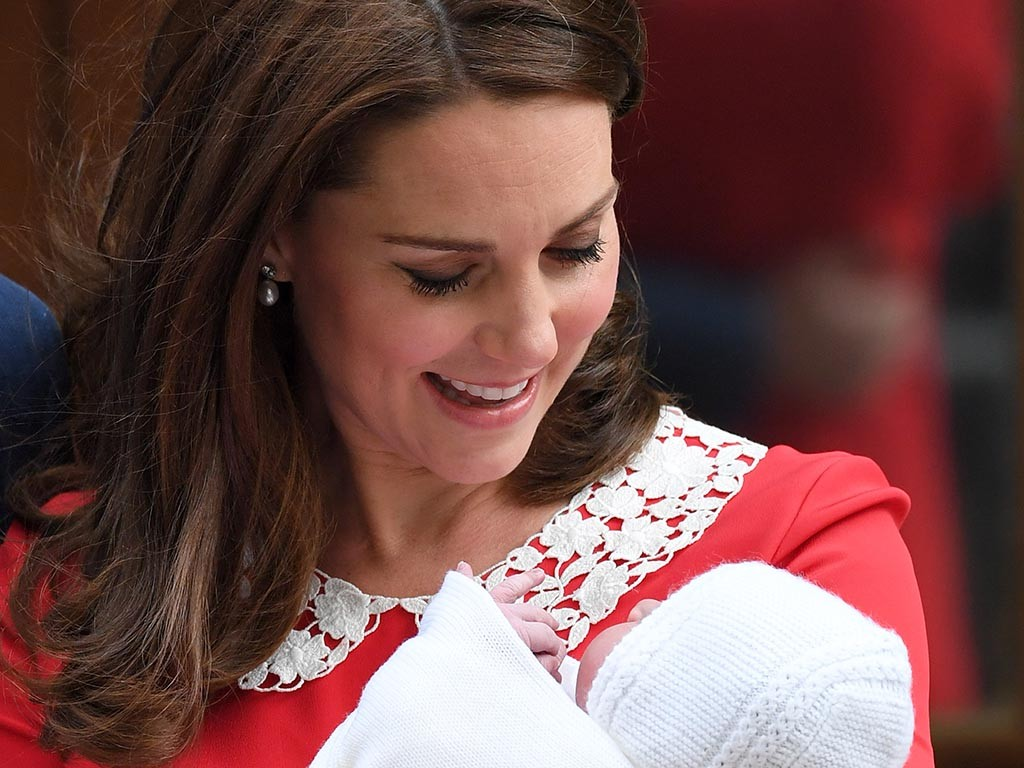 Kate, Duchess of Cambridge, with her third child