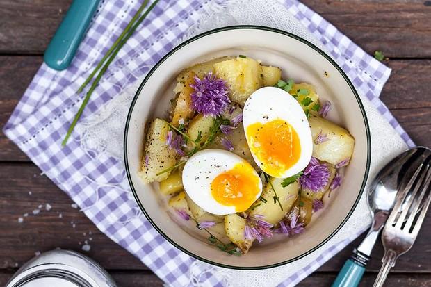 Potato and chive salad
