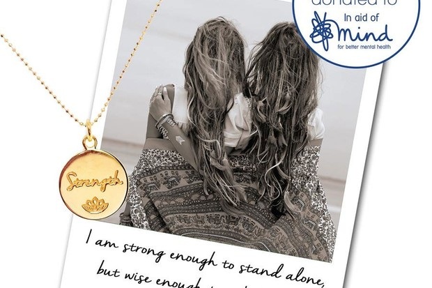 MIND necklace from Mantra, £65 in Gold-plated Sterling Silver