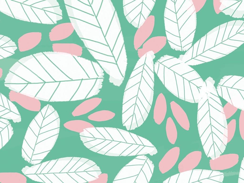 illustrated leaf wallpaper