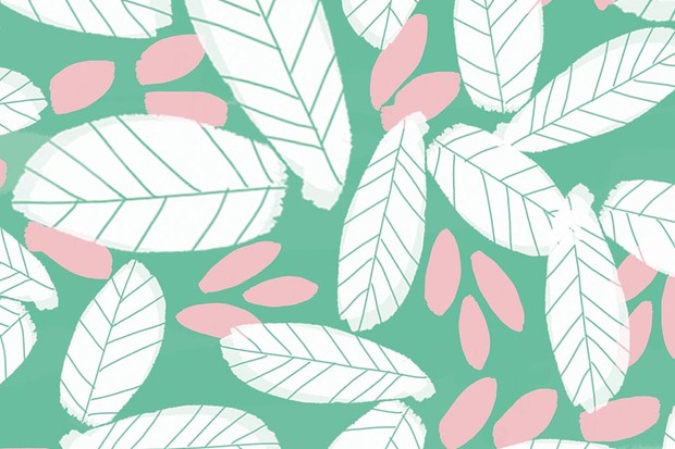 Download Free Illustrated Leaf Wallpaper For Your Phone Computer Or IPad Designed By Becki Clark