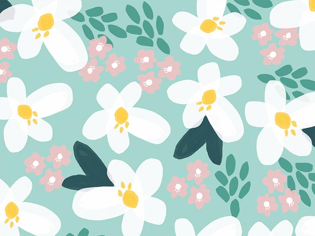 Floral summer wallpaper