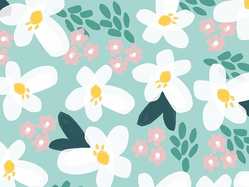 Floral summer wallpaper
