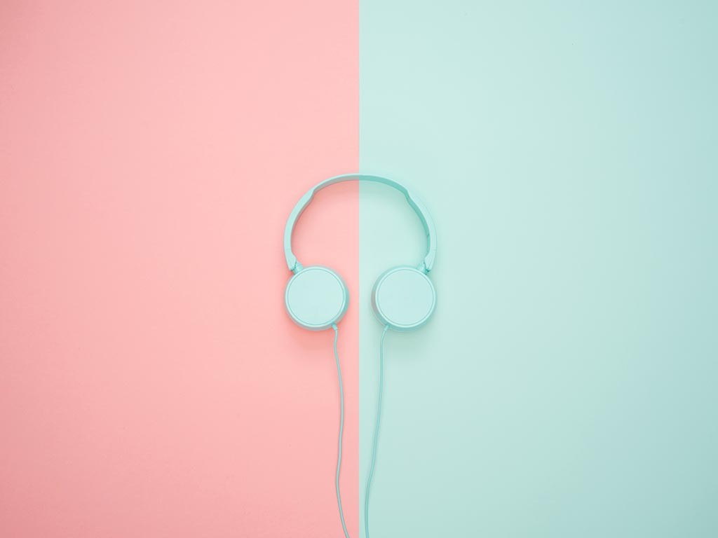 Pastel headphones
