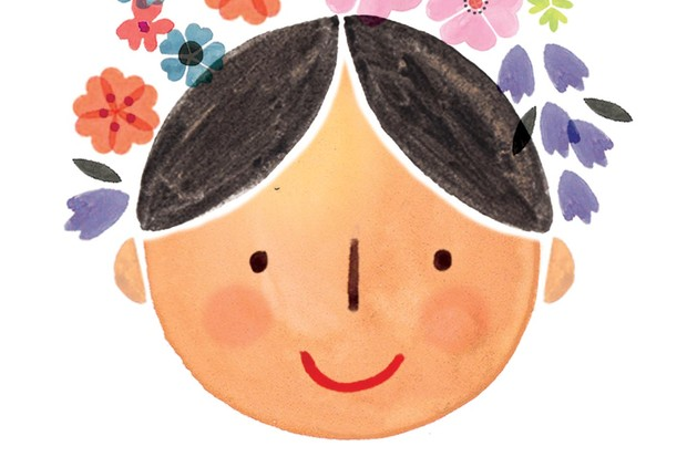 Smiling woman illustration by Holly McCulloch