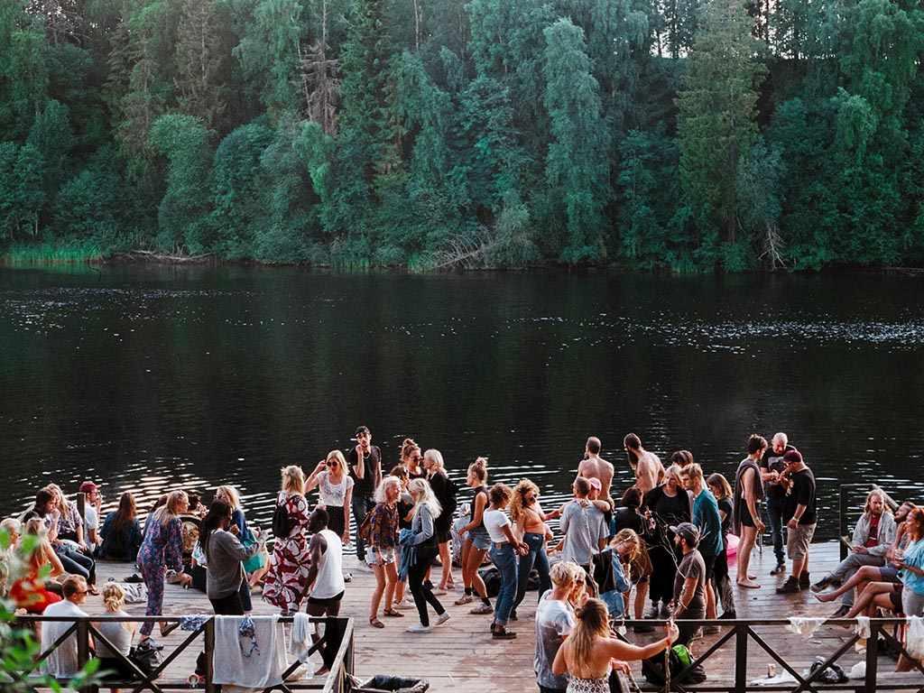 Swedish party at Midsummer