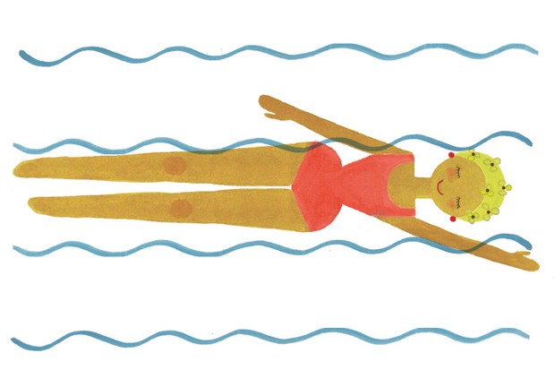 Illustration of a woman swimming by Holly McCulloch