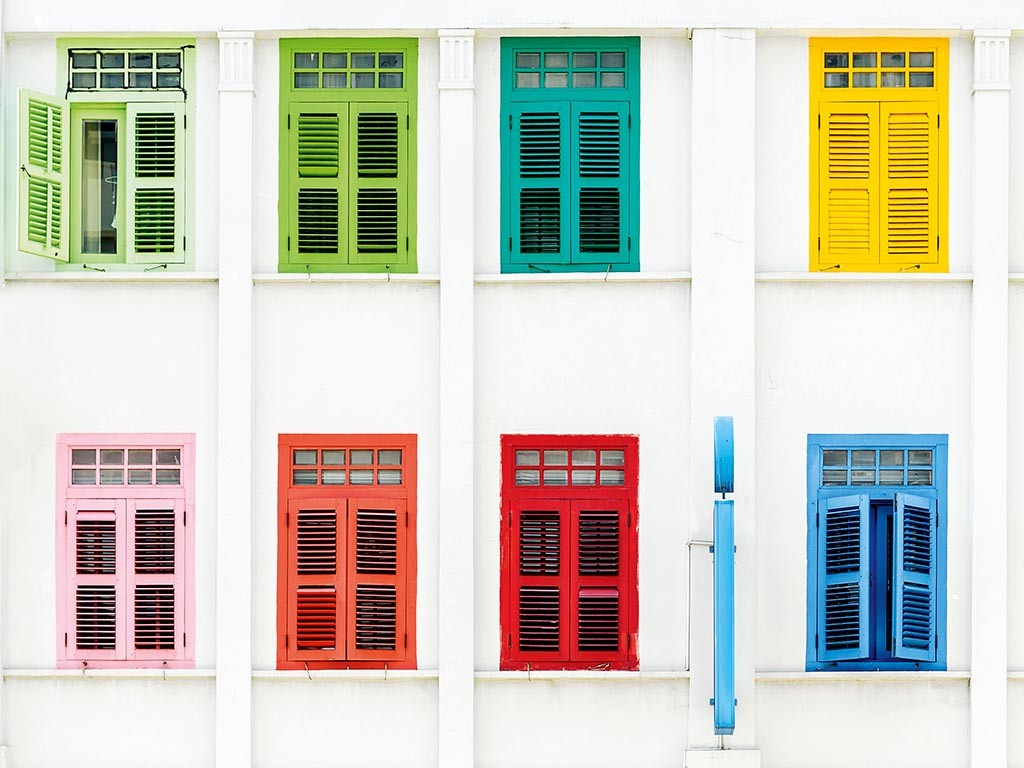 Colourful windows