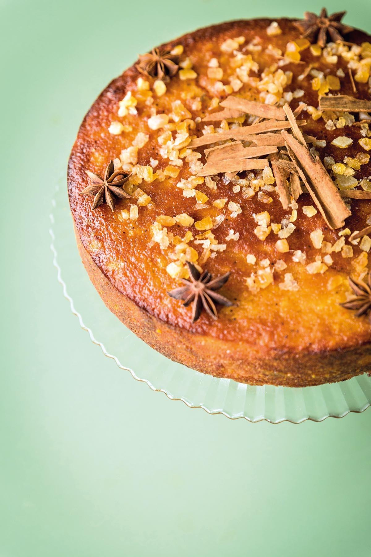 Orange pulp cake recipe