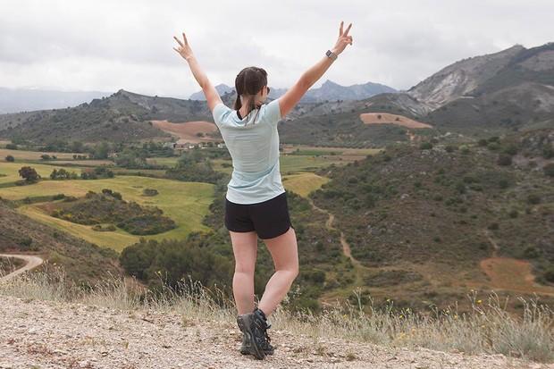 Kate Bennett hiking in Granada