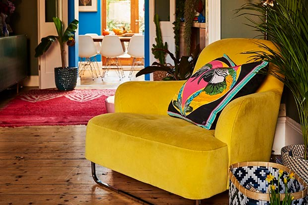 Yellow comfy chair from Be Bold by Emily Henson