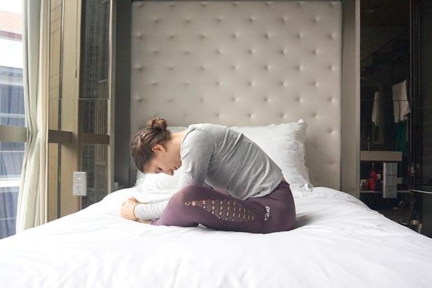 Sleeping butterfly yoga pose for sleep
