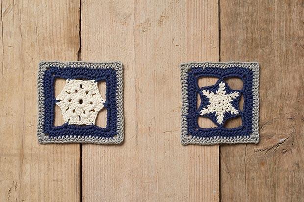 Winter blanket crochet squares