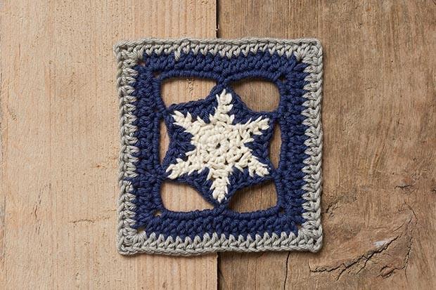 Winter blanket star square