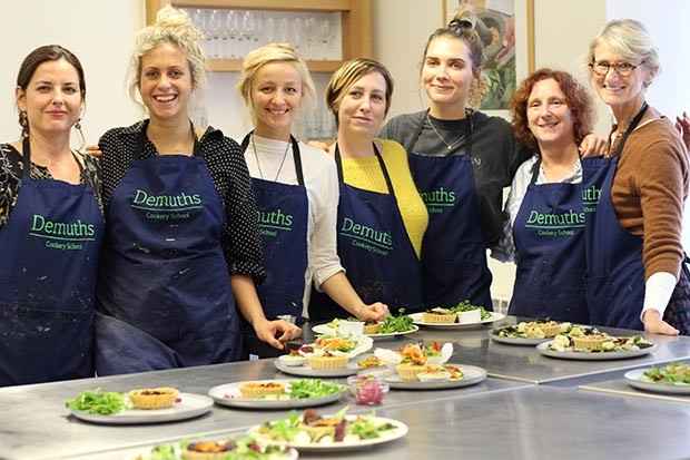 A vegan cookery class at Demuths in Bath