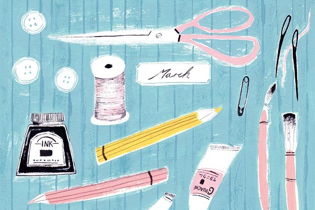 Creative equipment illustration by Fran Murphy