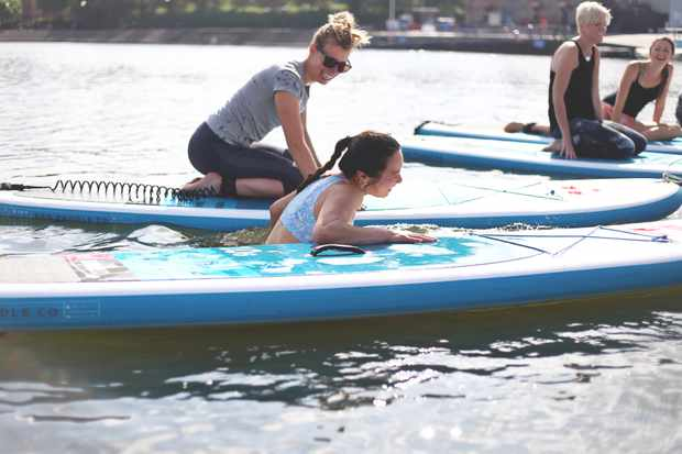 Charlene Lim faces her fear of falling during SUP yoga