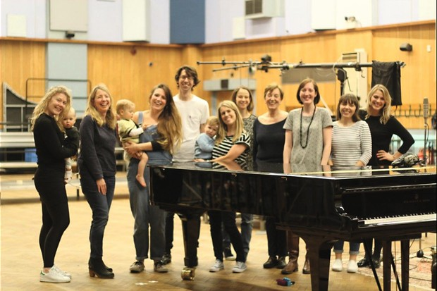 Choir Baby meet up for a rehearsal
