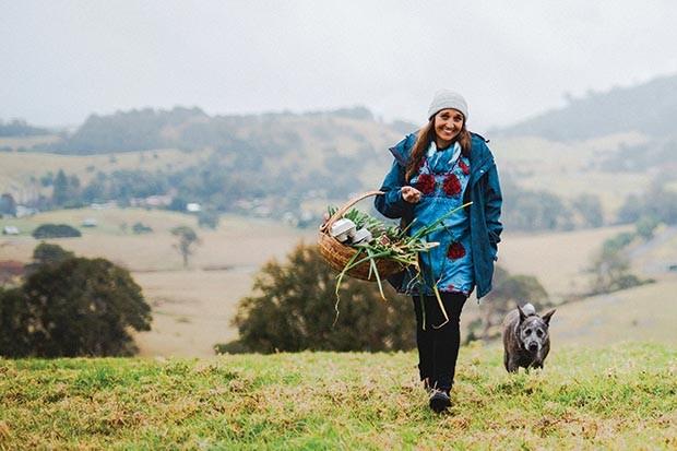 Jody Vassallo walking in a field