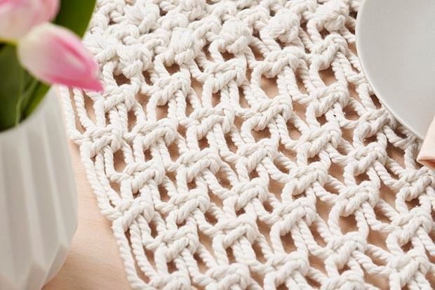 Macrame project from In The Moment Magazine