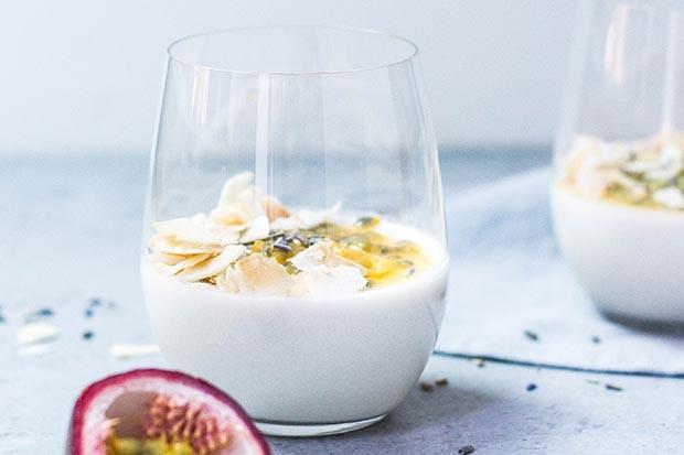 Probiotic yoghurt in a glass