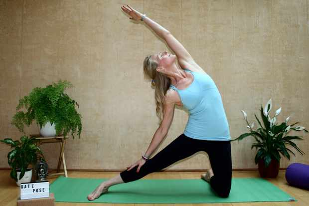 yoga gate pose
