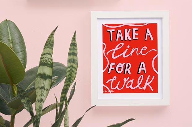 Inspirational print by Ella Masters