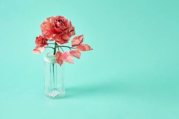 Paper roses created by Suzi McLaughlin