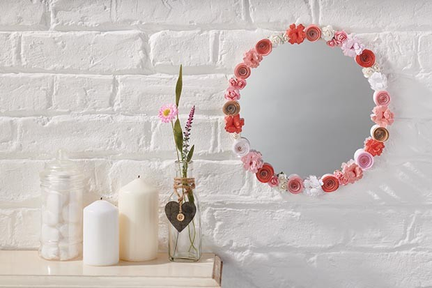 Papercraft mirror frame from Papercraft Inspirations magazine