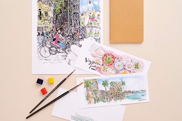 Watercolour posters and postcards by Niki Groom