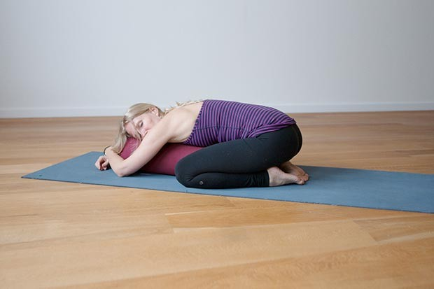 Supported child's pose